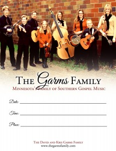 Garms Family Promo Poster 2012