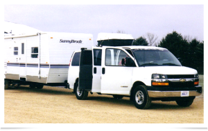 Our van and trailer