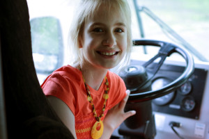 Jayme's driving?! Not quite… :)