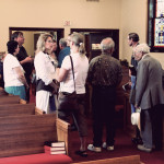 Talking with friends after the service on Sunday - such good times!