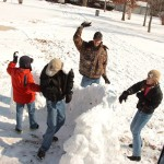 Snowball fight in Missouri!